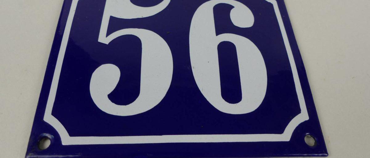 Email Schild Hausnummer 56